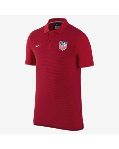 NIKE USA AUTH GS POLO RED